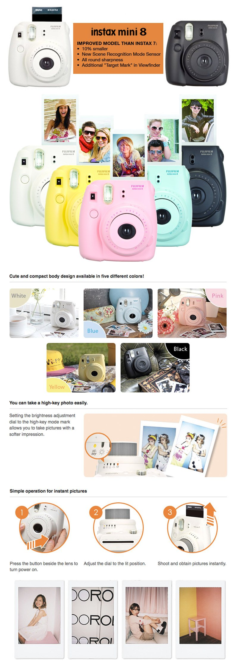 Every Need Want Day Camera 8s Instax Shanghai Girl New Item Limited Edition