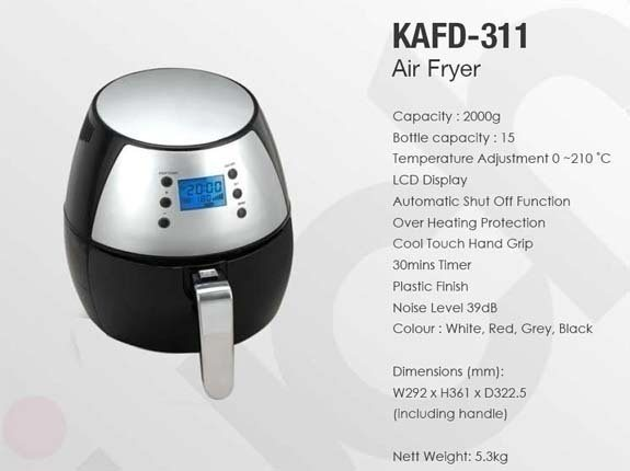 Kuche Air Fryer Kafd311 1 Year Warrantly Delicious For Chinese New Year