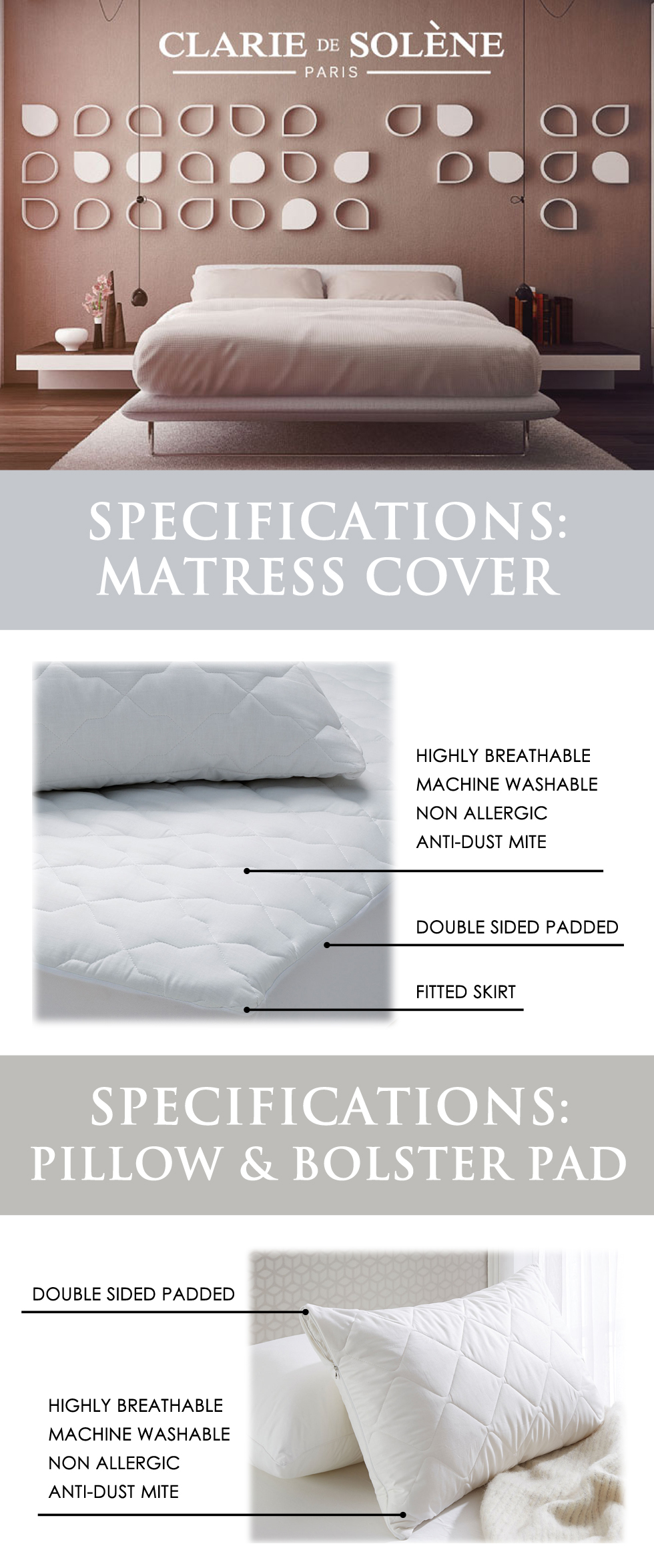 buy claire de solene fitted mattress protector add on option for