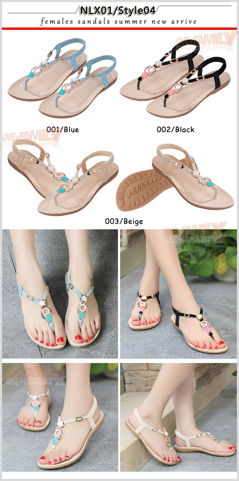 8a29d82aee06 Buy Female sandals slippers Bohemian style Ladies Wedge Sandals 40 ...