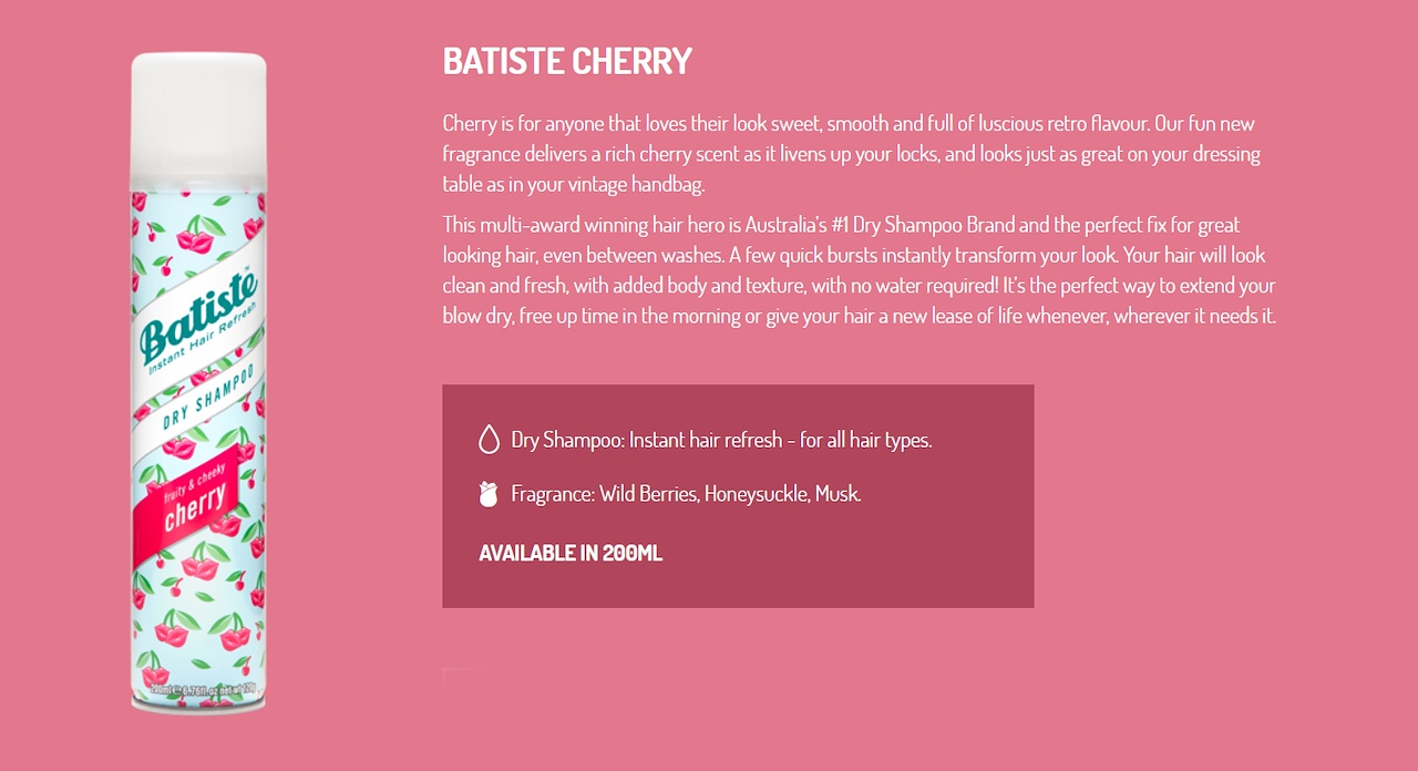 Buy Bundle Of 2 Batiste Dry Shampoo Stylist 200ml X I Mix N Wild Cherry Fruity And Cheeky