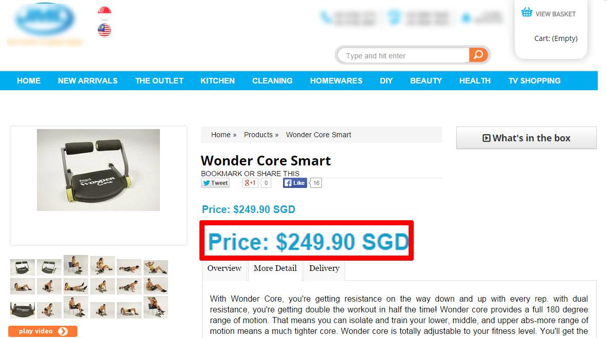 Buy Jmc Orignal Wonder Core Smart Burn Those Tummy Fats