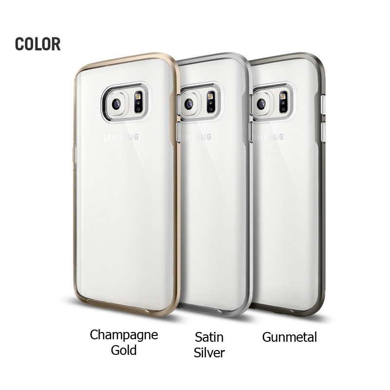 Spigen Neo Hybrid Crystal Series For Galaxy S7 !#!amp!*! Galaxy S7 Edge Color : Champagne Gold - Satin Silver - Gunmetal