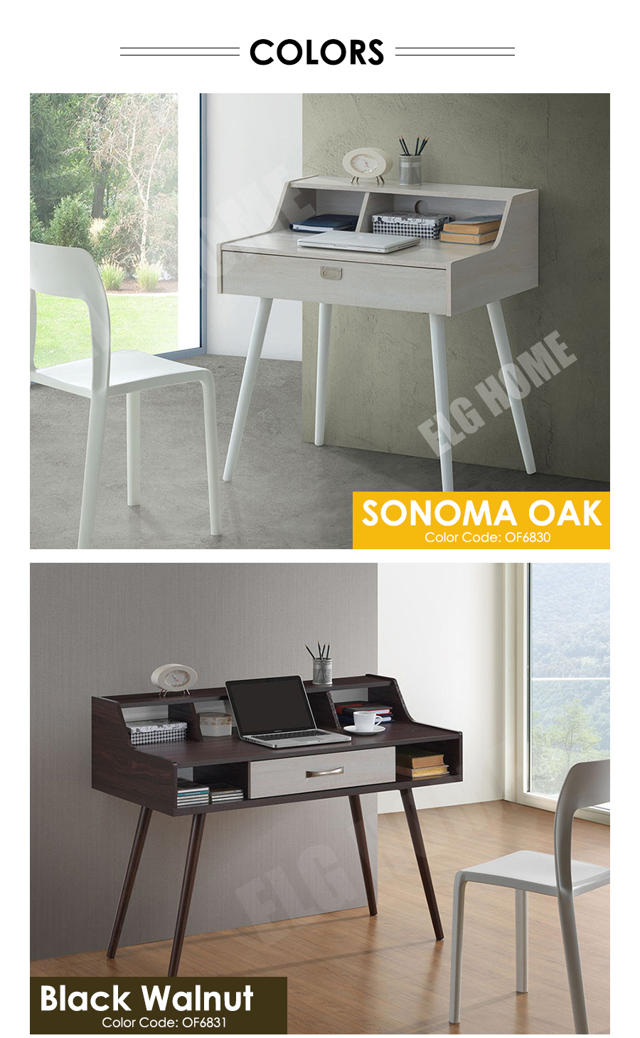 Norland Writing Desk Scandinavian Computer Table Save Space Office Simple Modern