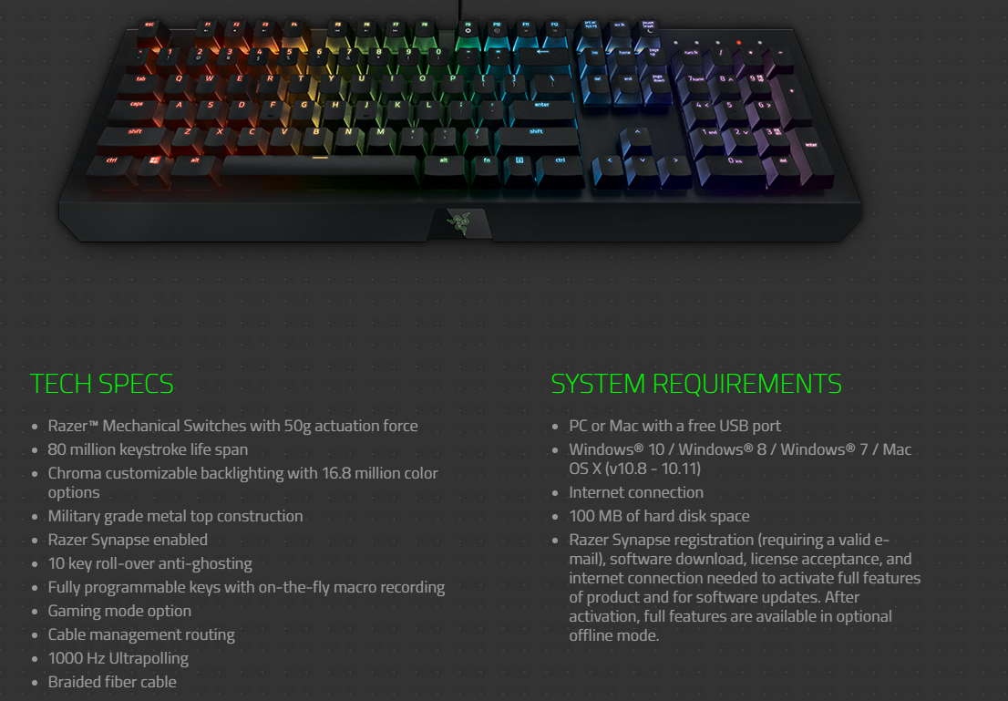 Razer Synapse Enabled Devices