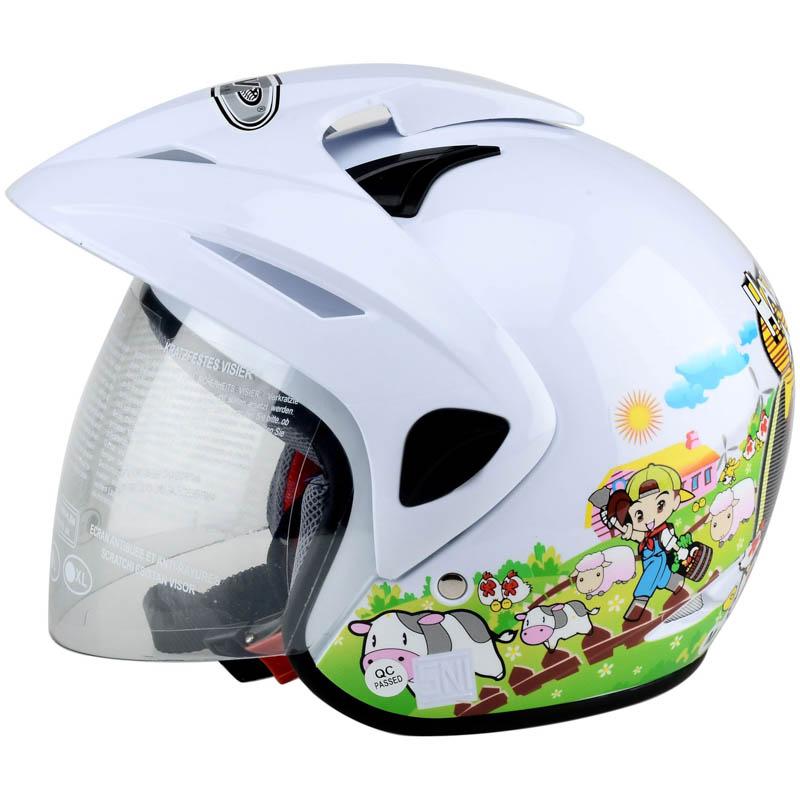 WTO Helmet Kids Pet - Harvest Moon - Putih WTO Helmet Kids Pet - Mc.