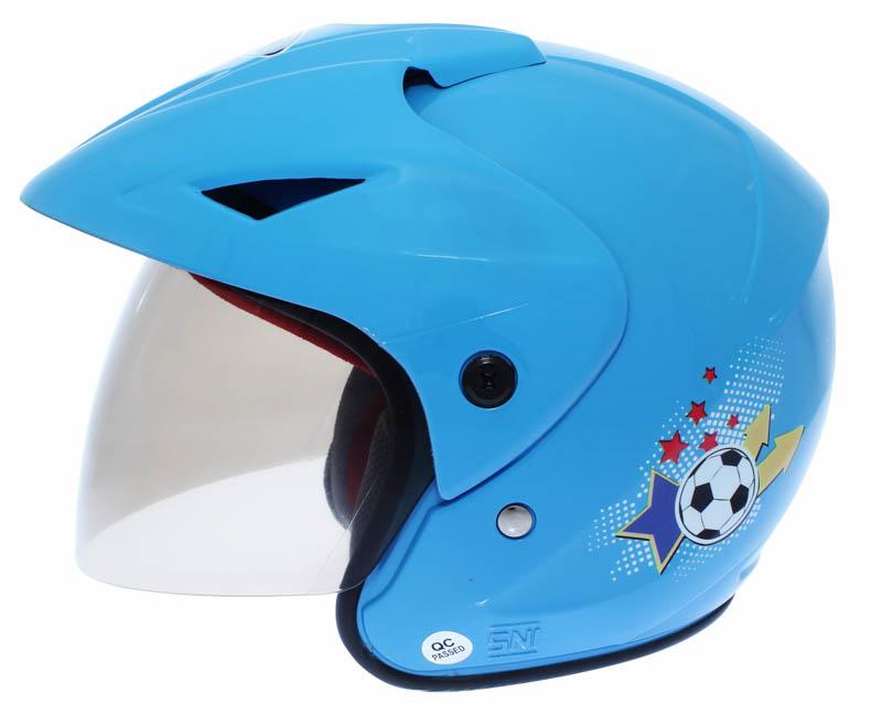 WTO Helmet Junior Neo - Chelsea - Biru WTO Helmet Junior Neo - Mc Queen - Merah