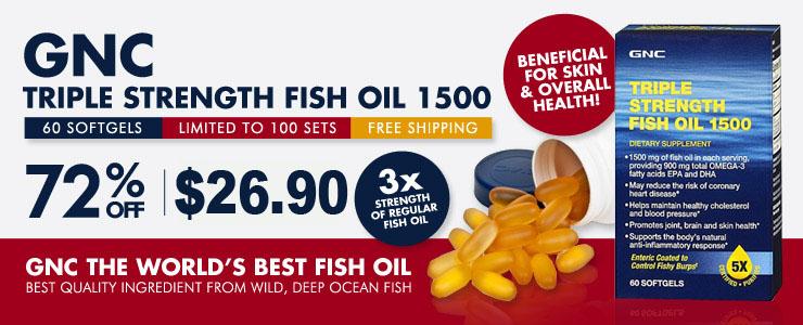 Buy gnc fish oil 72 off retail star buy gnc triple for Gnc triple strength fish oil 1500