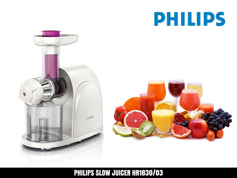Philips Slow Juicer 1830 : Philips HR1830 Premium Slow Juicer Smoothie Maker Fresh Fruit Juice Natural Flavour Extract ...