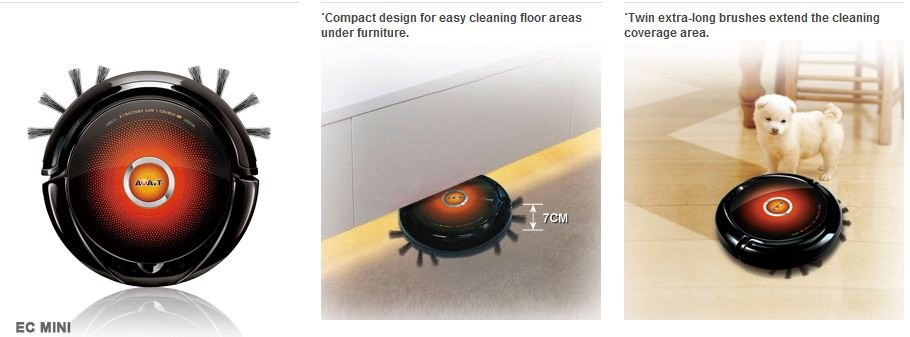 AGAiT EC Mini Robot Vacuum Cleaner