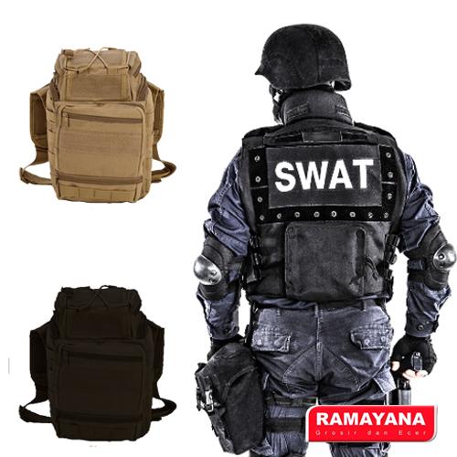 Tas slempang import, keren kuat dan modis, Banyak kantong. Ready warna coklat dan