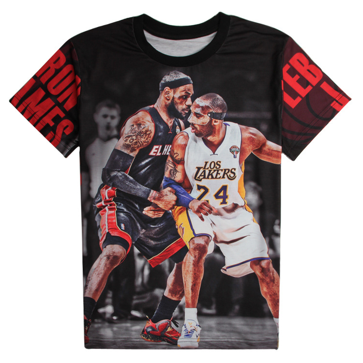 Buy new 25 design nba all star 3d t shirts 100 cotton tee for Nba t shirt design