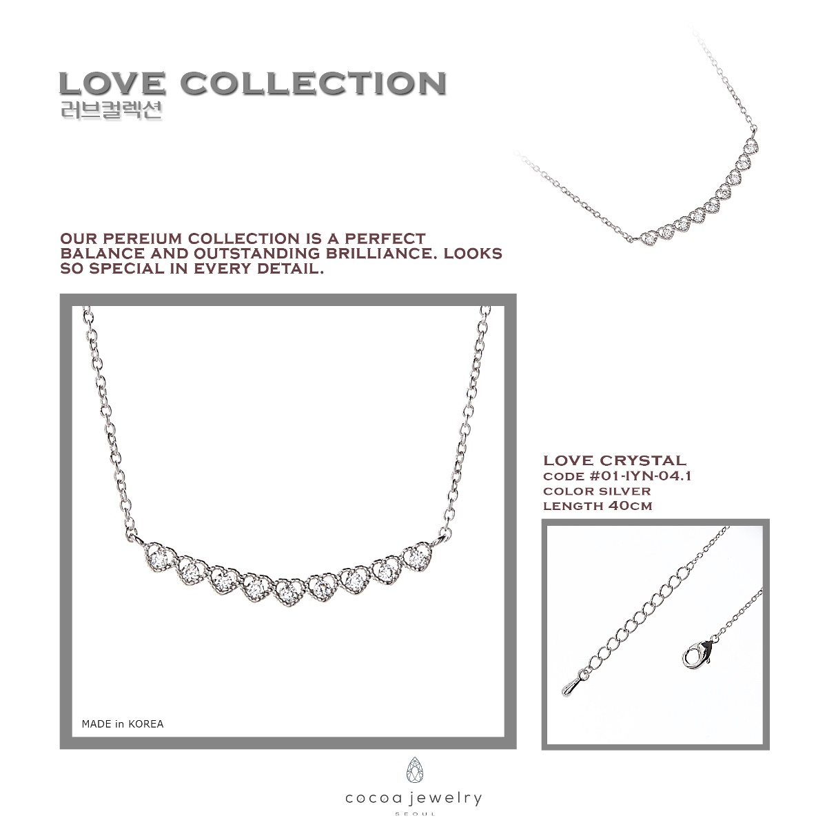 Buy Clearance Sale Cocoa Jewelry Necklace And Earrings Collection New Arrival Gelang Golden Time Silver Color Love Crystal Detail Produk Material Brass Size One Model 01 Iyn 041 Dimensi 3 X 03 02 Cm
