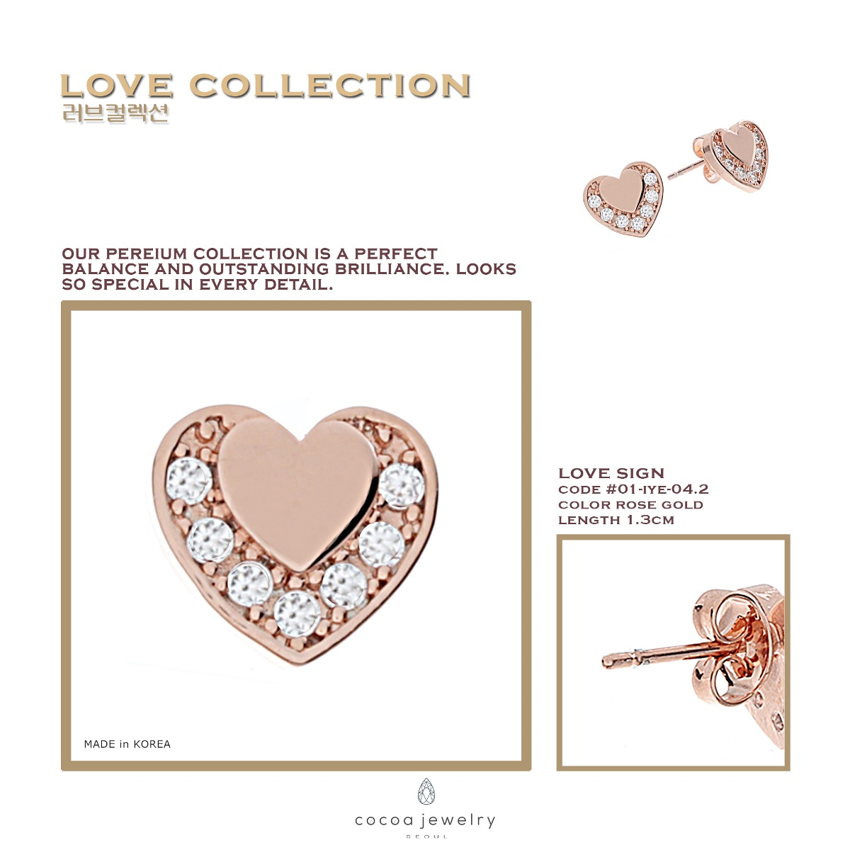 Buy Clearance Sale Cocoa Jewelry Necklace And Earrings Collection New Arrival Gelang Golden Time Silver Color Love Sign Earring Detail Produk Material Brass Size One Model 01 Iye 041 2 Dimensi 09 X 03 08 Cm
