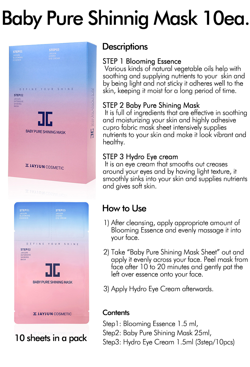 Image result for JAYJUN Baby Pure Shining MASK 10ea