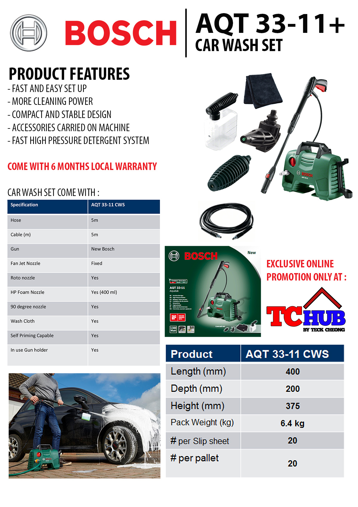 Buy Bosch Aqt 33 11 High Pressure Water Cleaner Suitable For Home Washer Aquatak Aqt33 Highlights