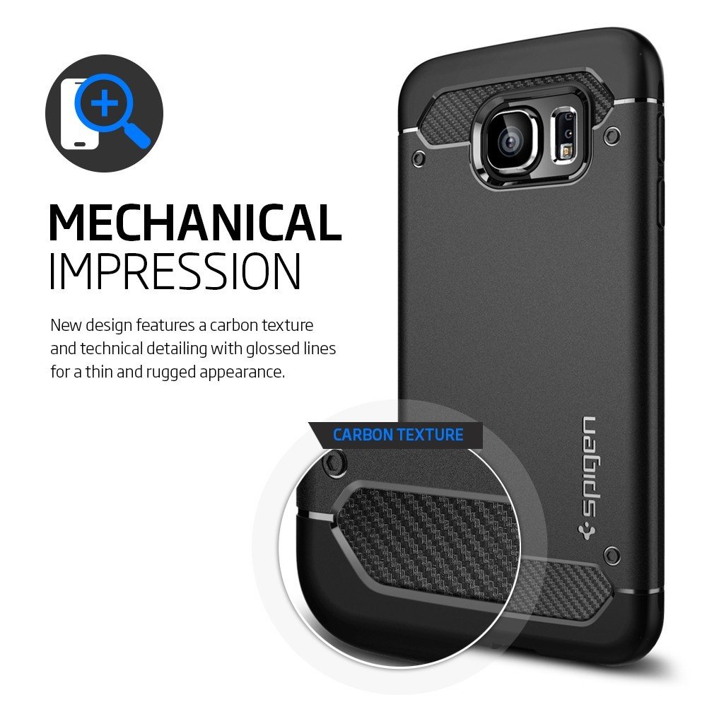 Buy Spigen Samsung Galaxy S6 Case Casing Edge Iphone Xr Anti Shock With Card Slot Slim Armor Cs Black Deals For Only S17 Instead Of S55
