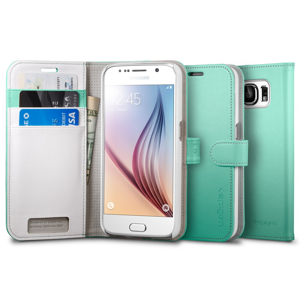 Buy Spigen Samsung Galaxy S6 Case Casing Edge Iphone Xr Anti Shock With Card Slot Slim Armor Cs Black Series 2 Cards Slots