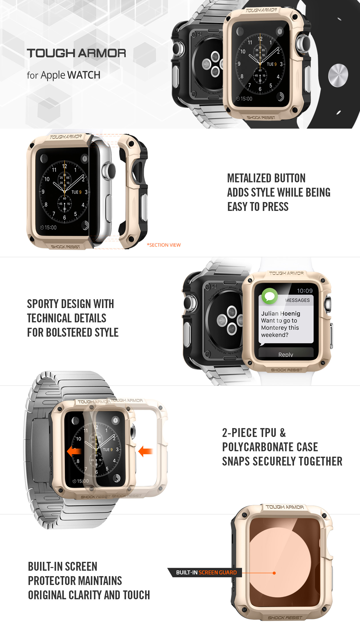 Buy Apple Watch Casing By Spigen Case Cover Screen Protector Strap Iphone 9 Anti Shock With Stand Tough Armor Original Band Deals For Only S49 Instead Of