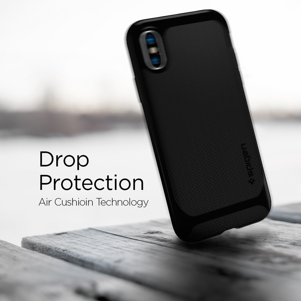 Every Need Want Day Spigen Iphone X Case Wallet S Leather Original Casing Neo Hybrid Series Color Jet Black