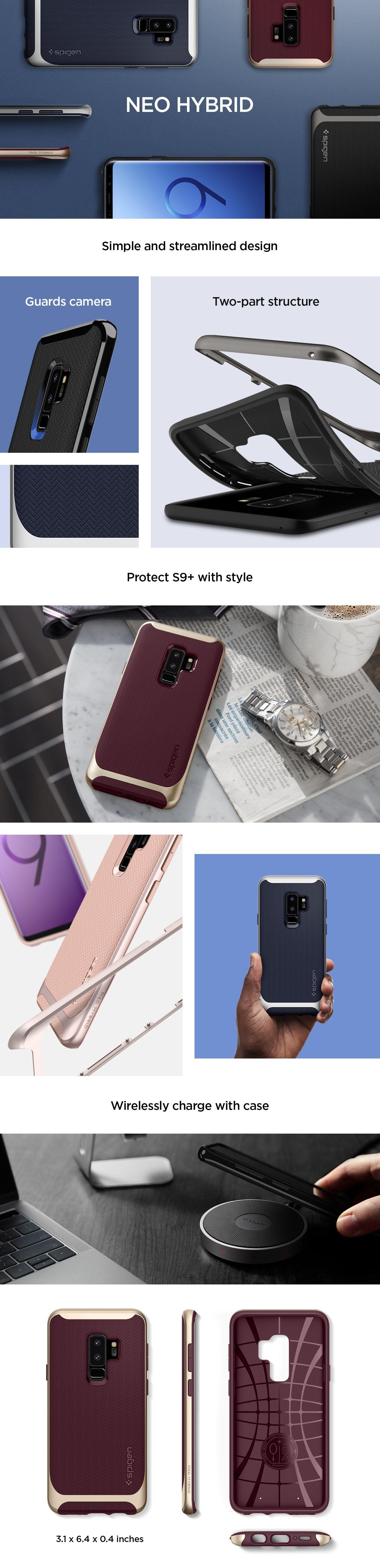 Buy Spigen Samsung S9 Case Galaxy Casing Screen Protector 100 Note 9 Modern Slim Design Neo Hybrid Midnight Black Series Color Gunmetal Burgundy Lilac Purple Shiny Arctic Silver Pale Dogwood