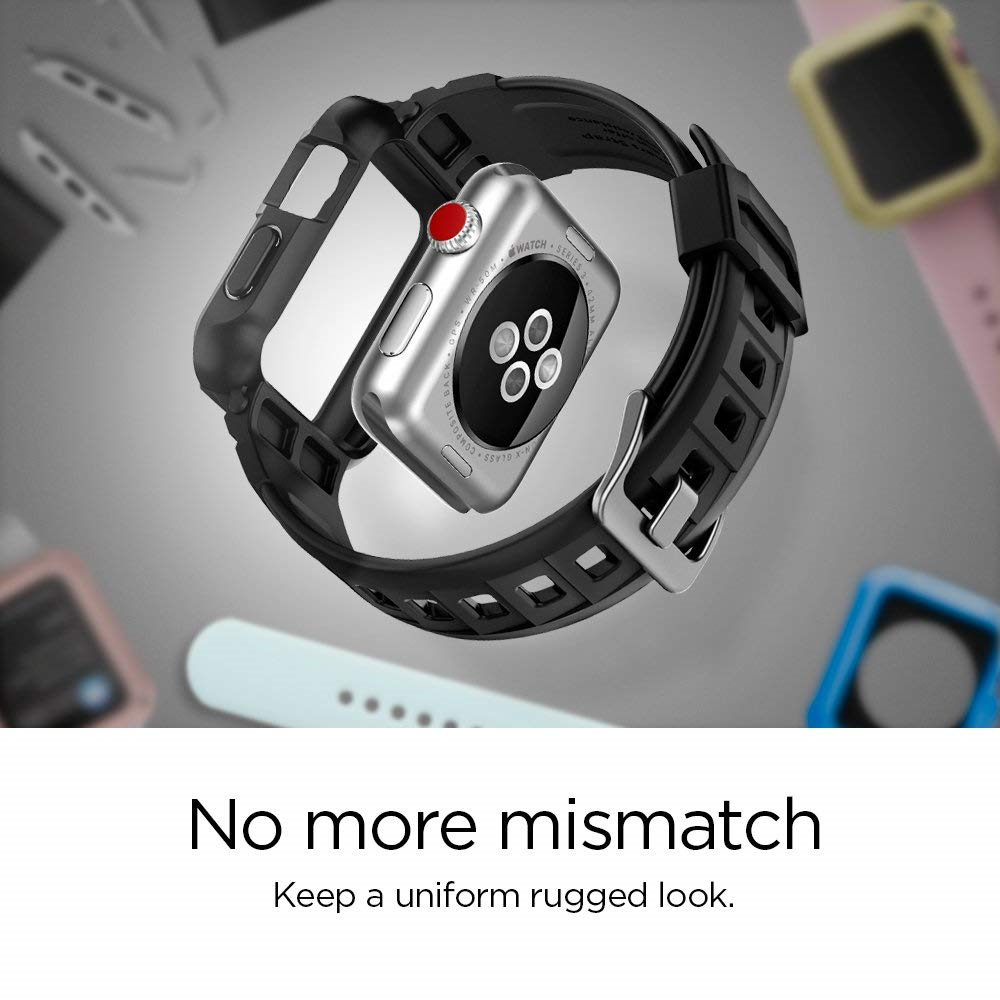 Every Need Want Day Spigen Tough Armor 2 Case For Apple Watch 42mm Series 3 Black Rugged 1 Compatibe With 38mm