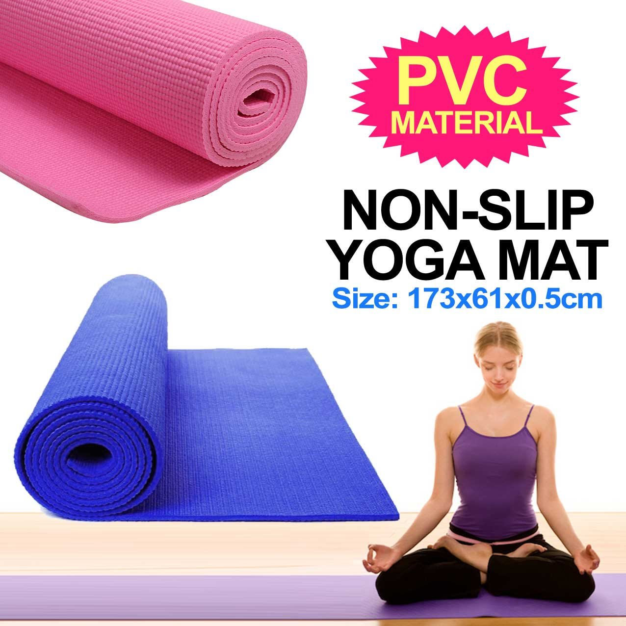 Non-Slip Yoga Mat-Blue