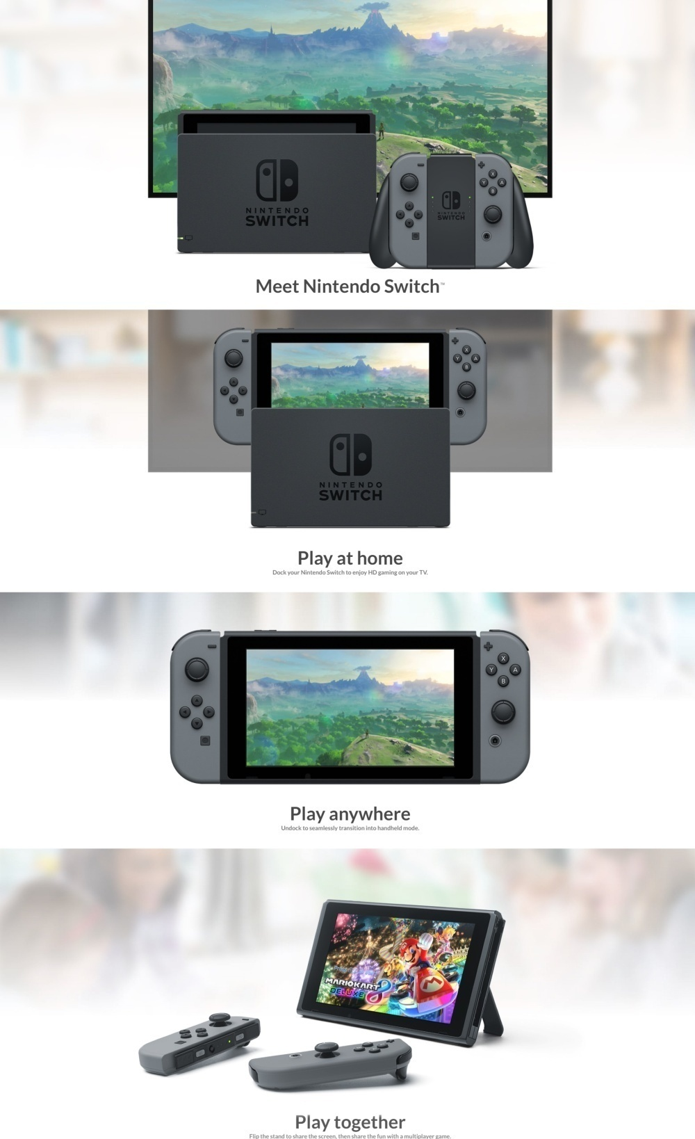 Every Need Want Day Nintendo Switch Grey Bundle 2game 2amiibo The Mobility Of A Handheld Is Now Added To Power Home Gaming System With Unprecedented New Play Styles Brought Life By Two Joy Con