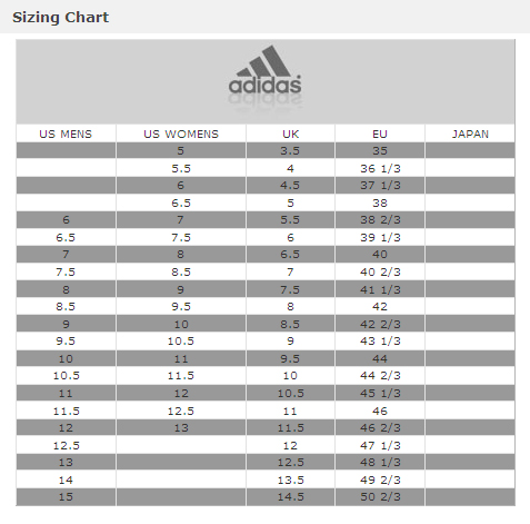 womens to mens shoe size adidas