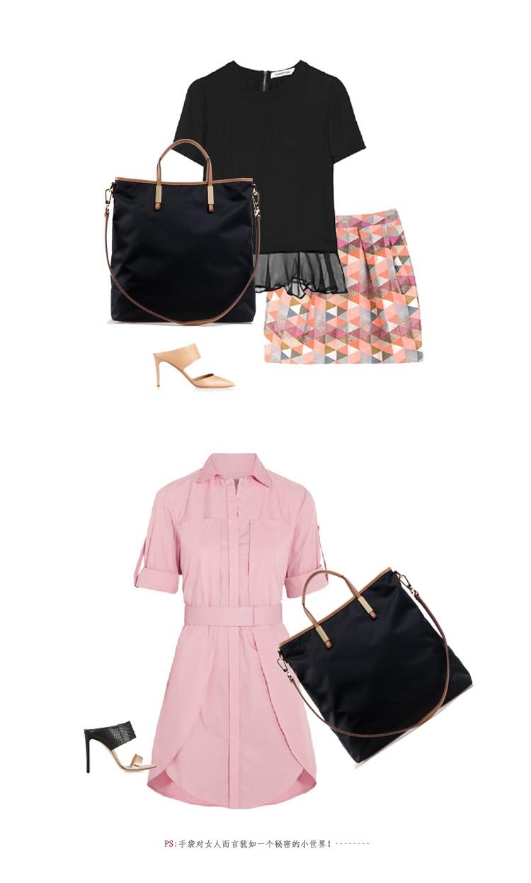 Buy Local Delivery Diagonal Nylon Canvas Handbag Premium