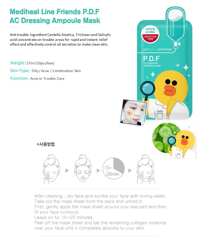 Qoo10 Malaysia Global Fashion Trend Leading Shopping Market Mediheal Line Friends Ampoule Mask