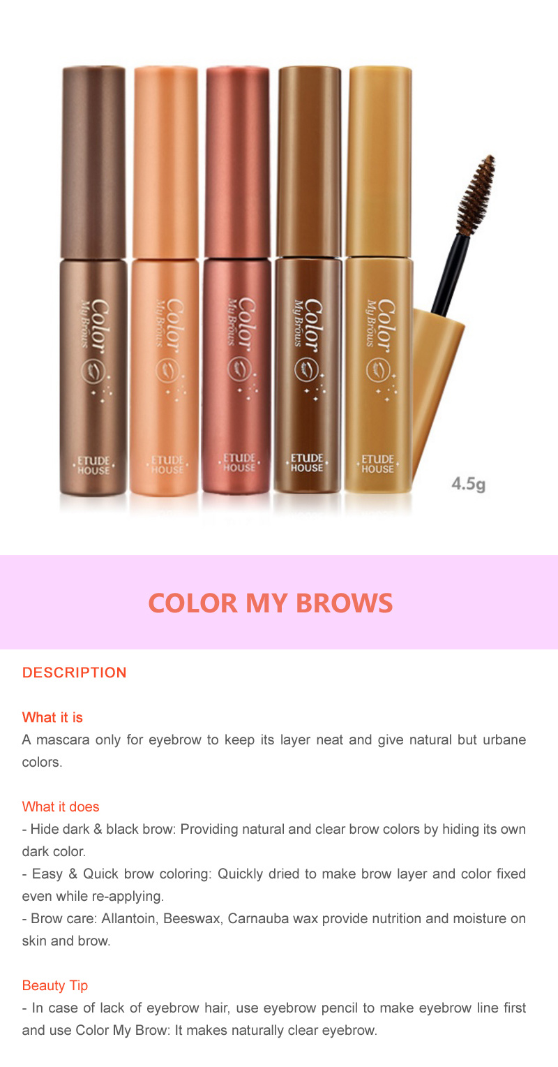 Every Need Want Day Etude House Color My Brow Brows