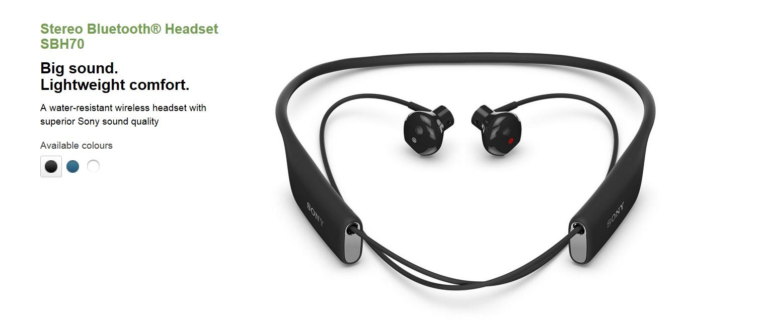 aa4e0905957 Buy Sony Stereo Bluetooth Headset SBH70/Dual Function Wireless Audio ...