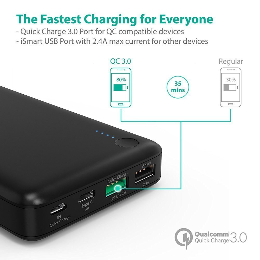 Buy Anker Tronsmart Powerbank Portable Batter Deals For Only S149 Presto Power Bank 1 Port Usb Type C 10400mah With Qualcomm Quick Charge 30 Pbt12 Black Instead Of S0
