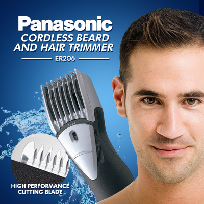 buy panasonic beard and hair trimmer cordless er206 deals for only s 100 instead of s 100. Black Bedroom Furniture Sets. Home Design Ideas