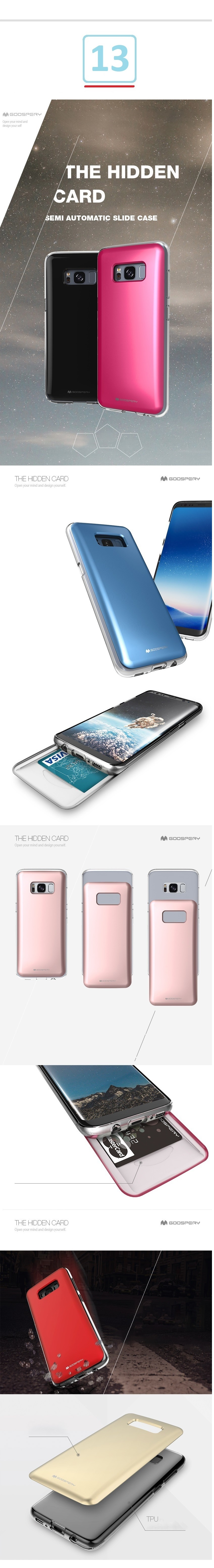 Every Need Want Day Goospery Iphone 8 Sky Slide Bumper Case Hotpink Note This Does Not Cover The Power And Volume Button Areas Just Like Colored Pearl Jelly Cases