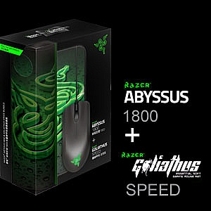 a8a6cf833fb Razer Abyssus 1800 Gaming Mouse and Goliathus (Speed) Mat Bundle