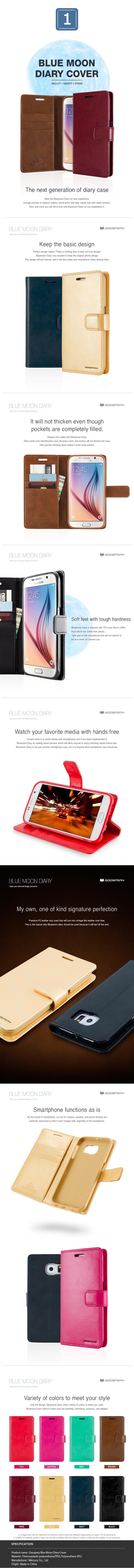 Buy Jdpremium Designer Stylegoospery Case Cover For Iphone Samsung Goospery Note 3 Blue Moon Diary Galaxy Grand Prime 8