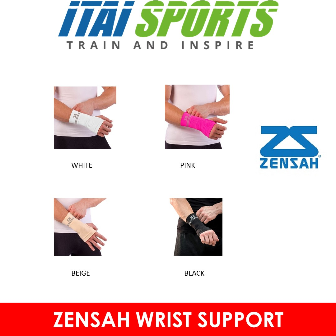 c012d32528 [MADE IN USA] Zensah Wrist Support (Pair)/ Wrist Pain/ Injury/ Recovery/  Anti-odor/ Light-weight/ All Sports/ Comfortable/ Unisex/ Breathability