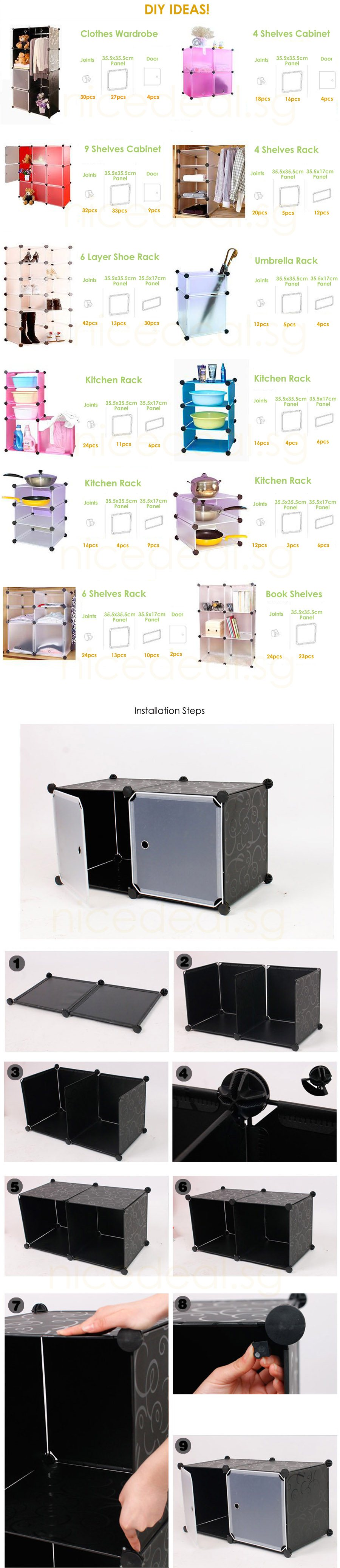 stackable cube storage cabinet