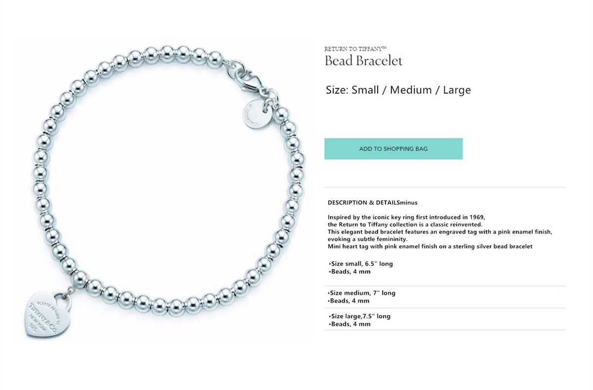 74b32c213 Tiffany Return To Bead Bracelet Blue Enamel. Tiffany Co Necklace 30872533 Return  Toe ...