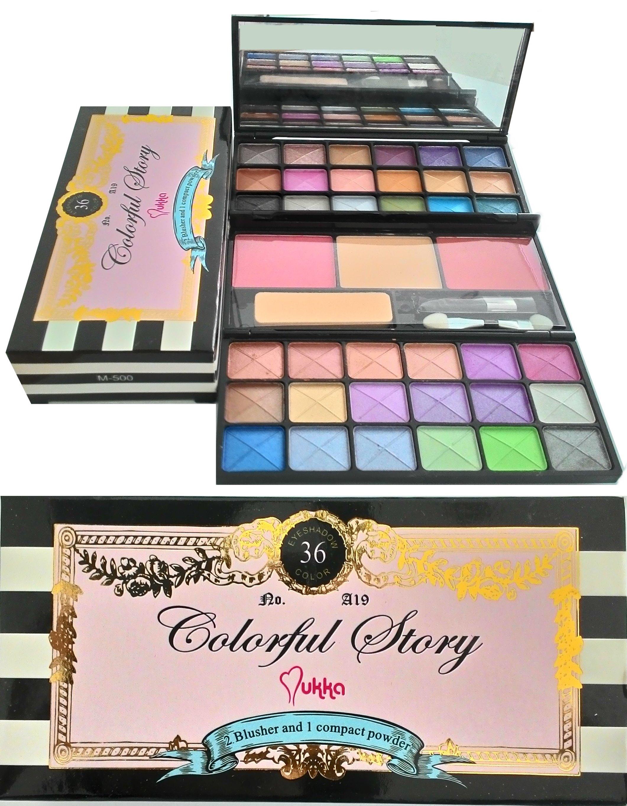 Mukka Travel Cosmetic Eyeshadow Blush Lip Pallete Daftar Harga Eye Shadow 7016 Matte Multicolor Source Special Today Price Rp35000