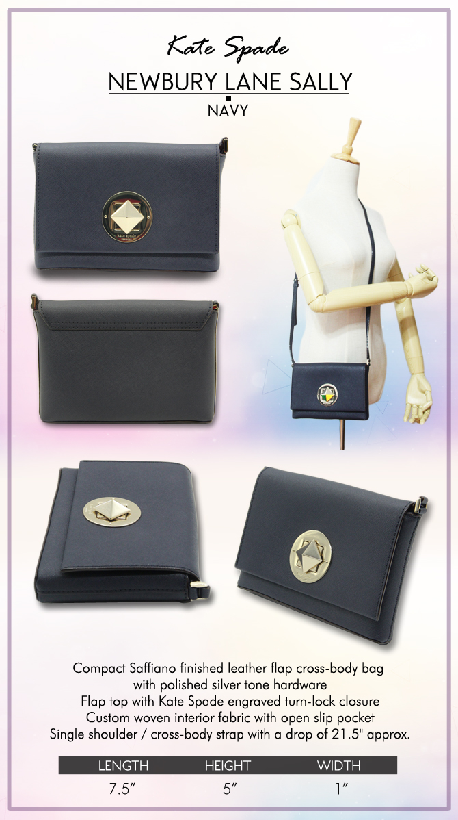 Every Need Want Day Katespade Small Rachelle Astor Court Navy Authentic Flapped Top With Kate Spade Engraved Turn Lock Closure Custom Woven Interior Fabric Open Slip Pocket Single Body Cross Strap 215drop