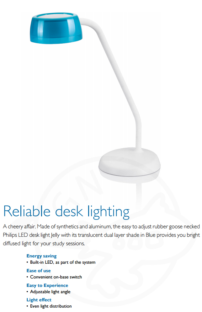 Philips Jelly Led Table Lamp 72008 Reliable Desk Lighting