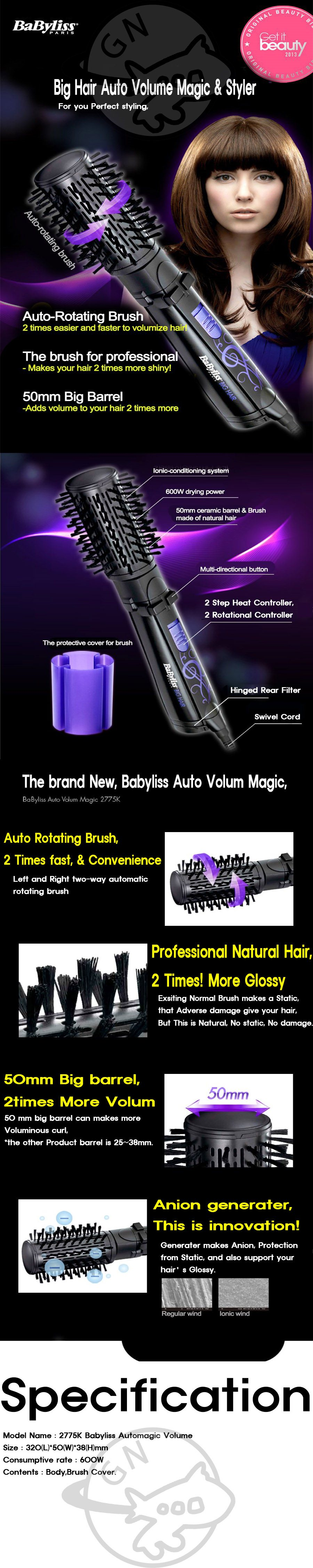 BaByliss Big Hair Volume Magic Amp Styler 2775K