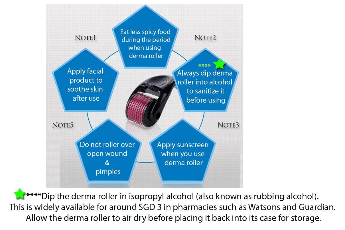 Buy 540 Titanium Micro Needle Derma Roller Safe Effective Anti Aging Dermaroller Generasi 2 Size 05mm Deals For Only S207 Instead Of S0