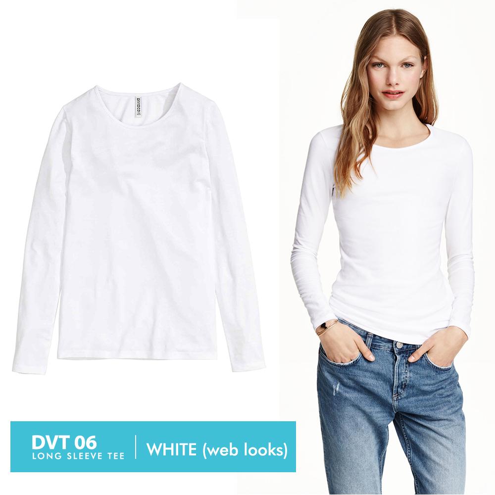 Buy Atasan Wanita Branded Kaos T Shirt Pakaian Asli Baju Blouse  A330 Lengan Panjang Basic Dengan 2 Varian Warna Cocok Dikegiatan Santai Atau Olahraga Bahan Perpaduan Polyester Viscose Dan Elastane Yang