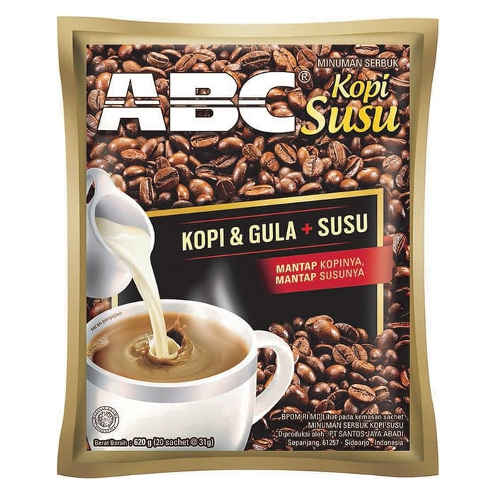 Brewed with hot water and enjoy your day with ABC Coffee Milk.Ingredients : Pure coffee, sugar and milk.BPOM RI MD 249913102029. ABC White Coffee
