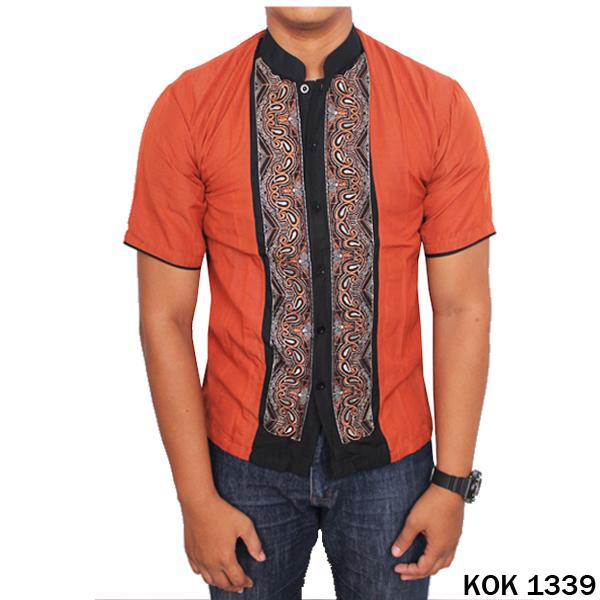 Buy Baju Koko Pria Muslim Batik Motif Batik Bordir