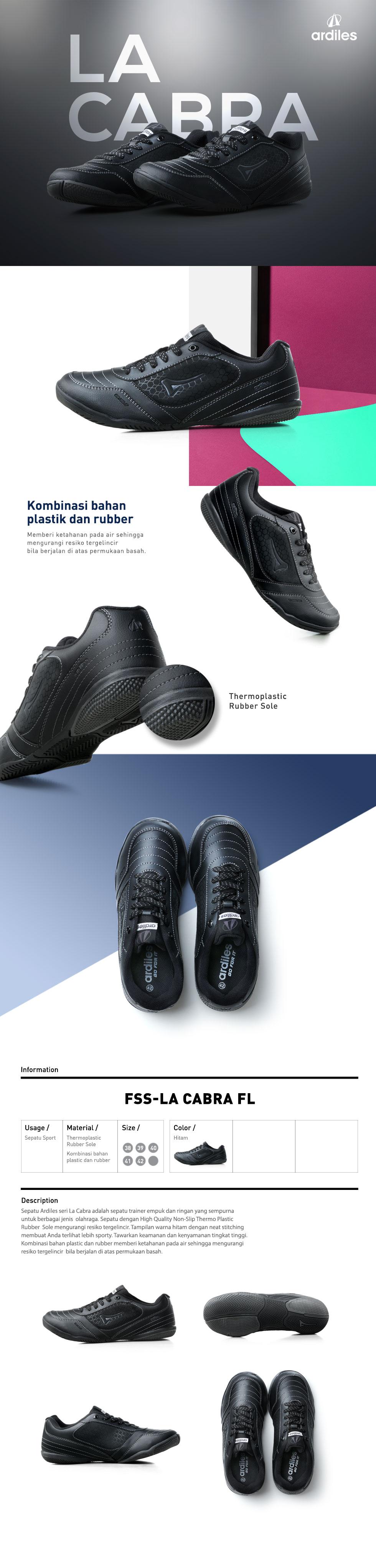Ardiles Men La Cabra Futsal Shoes Hitam Daftar Harga Terkini Biglio Sepatu Putih Emas 43 Opsi